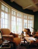 Diseño de la parrilla de ventana de la especialidad de madera sólida, bahía de la buena calidad y ventana de arqueamiento de aluminio para el edificio residencial