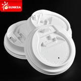 Устранимая крышка пластмассы кофейной чашки белой бумаги
