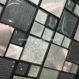 De het Zwarte Gelamineerde Glas van Classicail en Tegel van het Mozaïek van het Roestvrij staal