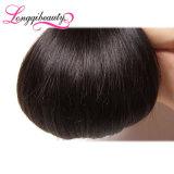 Vendedores da garantia 100% retos naturais do cabelo indiano do Virgin
