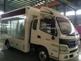 6 tonnes de véhicule de Foton DEL de camion imperméable à l'eau de publicité mobile d'écran