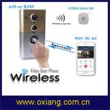 Haut-parleur intrinsèque de la sonnette intelligente sans fil visuelle en temps réel MIC de WiFi de garantie à la maison