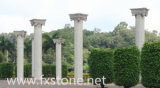 De de marmeren Roman Kolom van de Pijler van /Roman van Kolommen/Gravure van de Steen