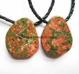 Semi ожерелье Unakite способа драгоценного камня естественное кристаллический