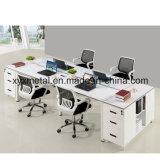 Escritorio de oficina de 4 plazas cara a cara con escritorio de oficina de oficina con base de metal (GT-DA05B)