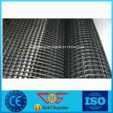 감싸인 축이 둘 있는 폴리에스테 털실 PVC 증강 Geogrid