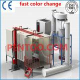 Cabine de jet de poudre de changement de couleur rapide de la Chine de qualité