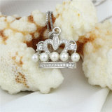 王冠の形のかわいい方法宝石類の自然な真珠のペンダント