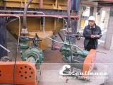 고무에 의하여 일렬로 세워지는 원심 흡입 슬러리 펌프 (HER-3D)