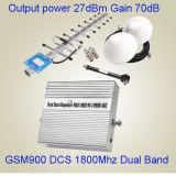 900MHz 1800MHz 2g/3G/4G se doblan aumentador de presión de la señal de la venda