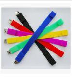 Movimentação colorida da chave de disco do USB da faixa de pulso (PZB004)