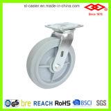 8 Zoll-Schwenker, der Hochleistungsgummifußrolle (P701-34FK200X50S, sperrt)