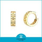 Einfacher Entwurfs-Form-Silber-preiswerte Band-Ohrringe 925 (E-0177)