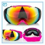 最近設計されていた流行の先端を行く女性のスキー装置の安全メガネ