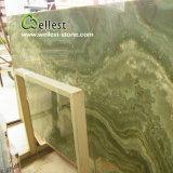 Lajes verdes transparentes bonitas do mármore de Onyx