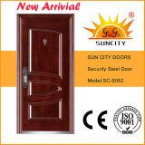 Porta de aço da porta indiana do estilo com projeto do indicador (SC-S092)