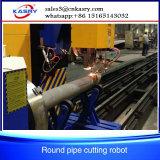 Fiamma del acciaio al carbonio Kr-Xy5 che smussa la tagliatrice del tubo del plasma di CNC di 60 gradi