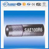 Tubo flessibile di gomma idraulico di fibra ad alta resistenza Braided (SAE100R6)