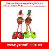 Bebé suave de la muñeca del juguete del duende de la Navidad de la decoración de la Navidad (ZY14Y516-1-2)