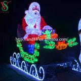 LED acrílico trineo del reno