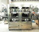 Het volledige Automatische Dubbele Etiket van de Fles van Hoofden krimpt Machine