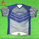 Algodón de Healong y camiseta de los hombres de la impresión de la pantalla de seda del poliester