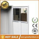 ホーム居間の家具の金属はロッカーの単一のドアの鋼鉄ワードローブに着せる