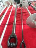 Escora apropriada chapeada zinco Rod do adaptador da terra de Hareware da linha eléctrica à terra reta tripla aérea do olho