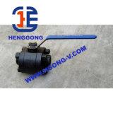 Vávula de bola forjada de alta presión de la cuerda de rosca de API/DIN
