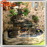 2015 Style unique en plastique Fake Artificial Decoration Waterfall Fountain Rockery