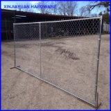 Panneau de clôture de liaison en chaîne Clôture mobile temporaire avec pied en métal Marché de l'Amérique