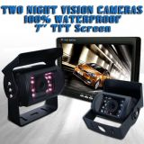 """Jogo reverso da câmera do carro monitor (de 7 """" TFT LCD + 2 câmeras alternativas)"""