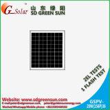 12Vシステムのための18V 20Wの多太陽電池パネル(2017年)