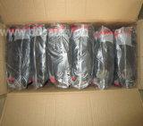 Серая перчатка работы отделки Sandy нитрила черноты раковины (DNN153)