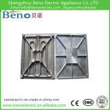 Fundición de aluminio redondo calefactores de placa del elemento de calefacción