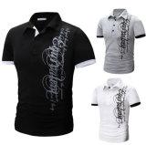 Camicia di polo degli uomini casuali stampati sensibilità morbida della Jersey alla rinfusa del nuovo modello