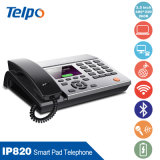 Telefone IP, com 2 Wan / LAN Port: 10m / 100m / 1000m Auto-Adativo & cir; Poe (Power Over Ethernet)