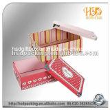 Rectángulo de papel de empaquetado del cosmético de encargo de lujo del regalo