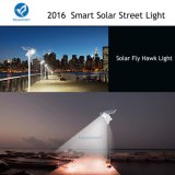 3500k-6500k todo em uma lâmpada de rua solar com de controle remoto