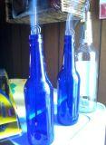 2016 hochwertige runde Bluecolored GlasGroßhandelsbierflasche