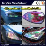 Пленка фары хамелеона способа, стикер автомобиля светлый, пленка автомобиля хамелеона светлая подкрашивая