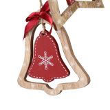 Ornamento de suspensão do Natal de madeira para o burro da decoração 4 do Natal