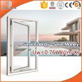 아프리카 별장을%s 나무 Alu 여닫이 창 Windows, 가득 차있는 분할된 가벼운 석쇠 목제 입히는 알루미늄 여닫이 창 Windows