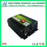 Casa fuori dall'invertitore di corrente alternata di CC del sistema solare 500W di griglia con il caricatore (QW-M500UPS)