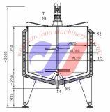 500L het Pasteurisatieapparaat van de Partij van de lage Temperatuur met het Verwarmen van de Stoom