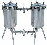 Filtro duplex de bebidas de aço inoxidável de qualidade sanitária