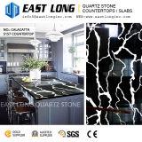 Partes superiores pretas personalizadas da vaidade da pedra de quartzo de Calacatta Aartificial