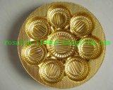 Buscuitの皿のための金そして銀が付いている金属で処理されたペットフィルム