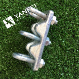 De gegalvaniseerde Drievoudige Klem van de Kabel van de Draad van het Type voor de Kabel van de Draad van het Staal