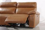 Sofà del salone con il sofà moderno del cuoio genuino impostato (789)